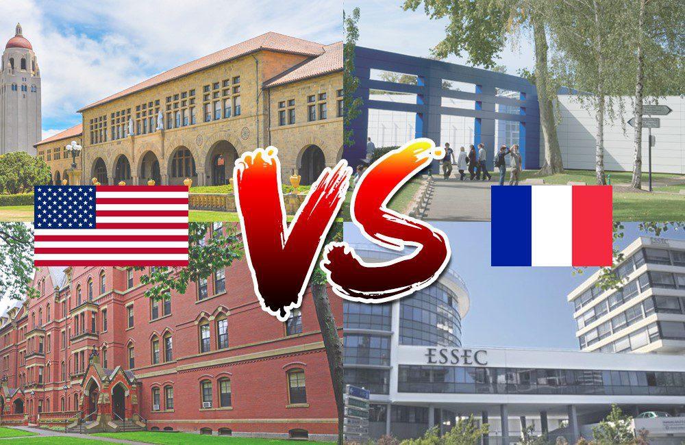 universites françaises et americaines